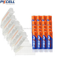 20Pcs PKCELL LR6 AA 1.5v Alkaline Battery Packed With 5Pcs Battery Box For Walkman Toys Calaculators Non Rechargeable AA Battery