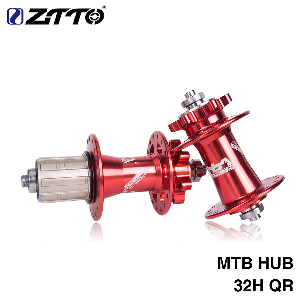 ZTTO Bicycle Hub Disc Brake MTB Mountain 2 Bearing Hub 32H Hole 36 clicks quick release QR 100 135 with QR ultralight bearing hubs mtb mountain bicycle hubs 32 holes 4 bearing quick release lever mountain bike disc brake parts 4colors