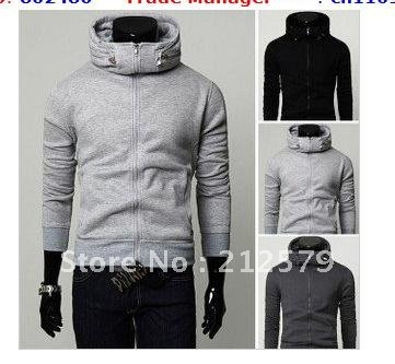 High collar stylish collar design hooded sweater hood head sets ...