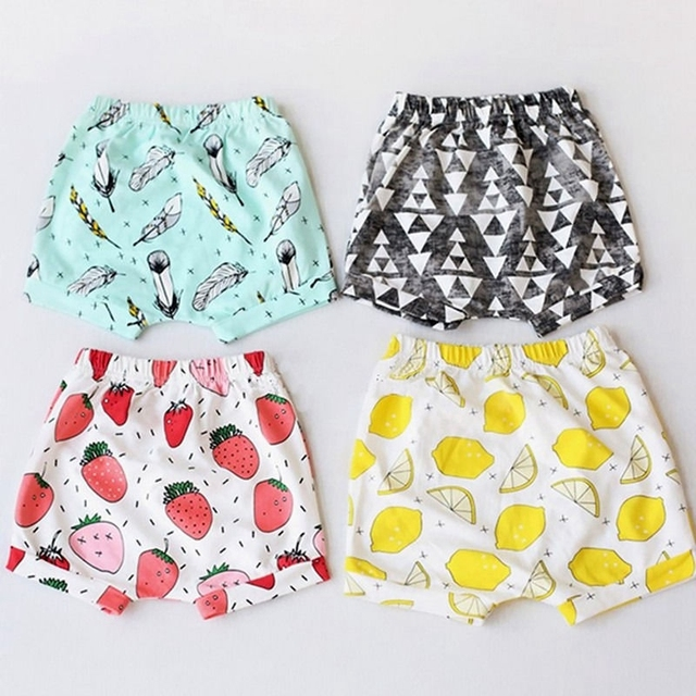 Lato Cute Cartoon dziewczyny krótkie spodnie wyjątkowe maluch dziewczynek spodnie spodenki letnie Bloomers gorące spodnie szorty 0-4Y