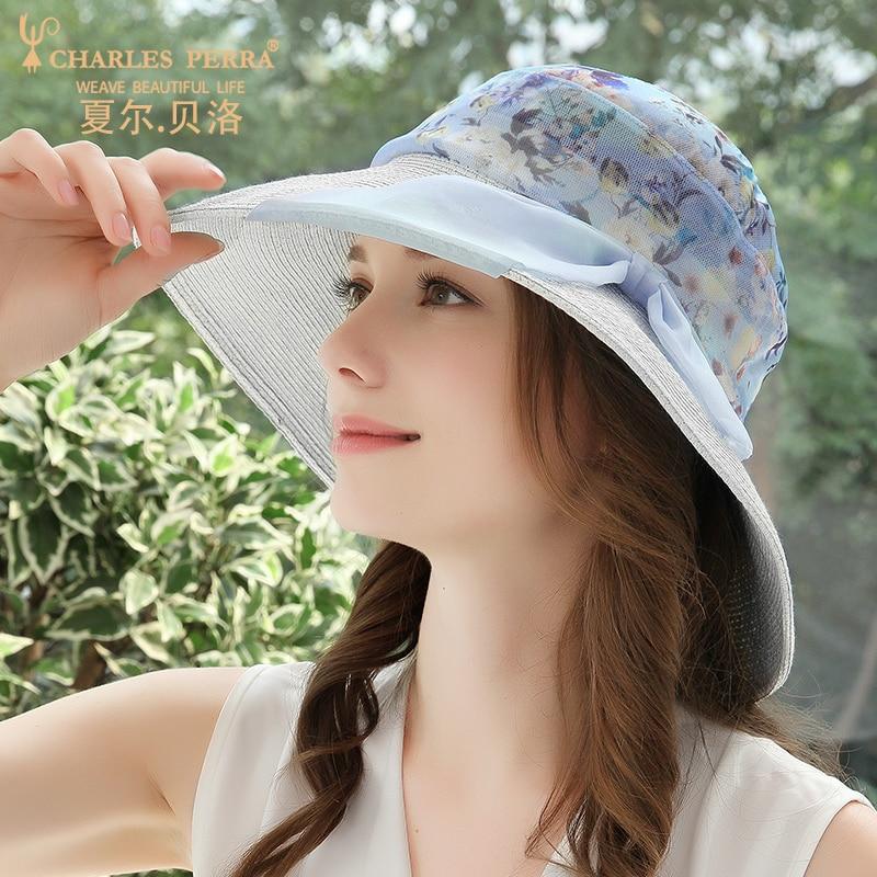 Chapeau pare-soleil femme printemps été pare-soleil chapeau femmes Version coréenne paille soie plage Anti-UV Protection solaire casquette respirante H208