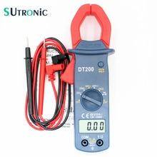 DT200 цифровой токовые клещи зуммер Удержание данных Бесконтактный диод Обнаружение тока Сопротивление напряжения тест ЖК-дисплей