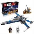 2016 LEPIN 05029 05004 Star Wars x-wing de Primer Orden Poe bloques de construcción X wing Fighter Figuras de Star wars Juguetes Para niños