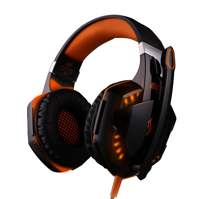 EACH G2000 Gaming Headset Deep Bass Stereo Surrounded Sound Over-Ear Gaming Headphone With Mic For PC Computer with microphone best computer gaming headphone headset over ear game headphones stereo deep bass led light with mic for computer pc