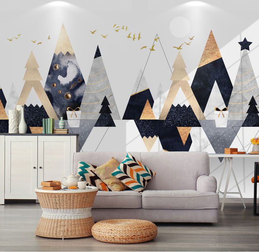 Geometry Abstract Wallpaper Papel Mural for Living Room Sofa Background 3d Wall Photo Murals Wall paper 3d Wall Sticker 3d abstract wallpapers southeast asia peacock feature murals walls photo print wallpaper 3 d wall paper papier for living room