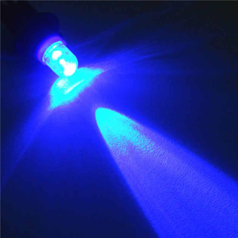 24 V LED Mavi Renk araba ampulü Lamba T10 (10mm Spot Lamba) w5W W2.1X9.5d Kapı Gövde Boot Lisans Okuma Işığı