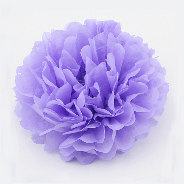 "Purple Decorative Balls Beauteous 6Pcs 15""37Cm Light Purple Hanging Tissue Paper Pom Pom Lantern Design Decoration"