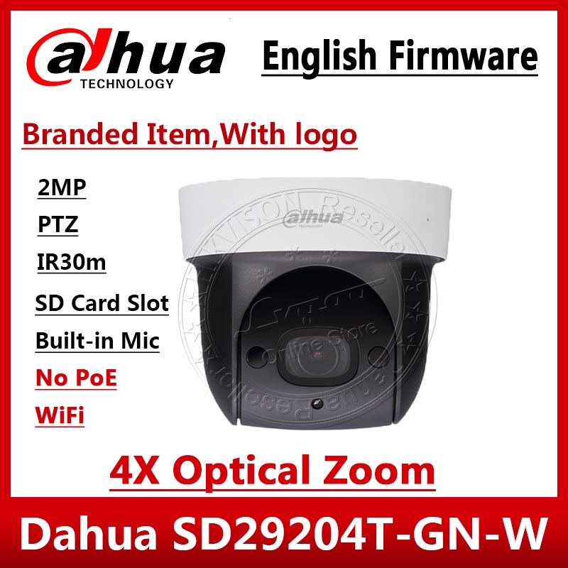 Dahua Original English SD29204T-GN-W replace DH-SD29204S-GN-W Wifi IP 2MP Mic PTZ Dome Camera wireless 4X Zoom SD29204T-GN