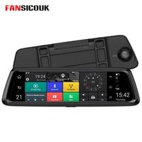 FANSICOUK Car DVR Camera 10Android Dash Cam Mirror 4G ADAS GPS Car Video Recorder Mirror FHD 1080P Dual Lens Video Registrar
