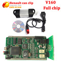 Newest V160 Version Multi language Renault can clip with full chip V160 Diagnostic interface can clip for renault free shipping