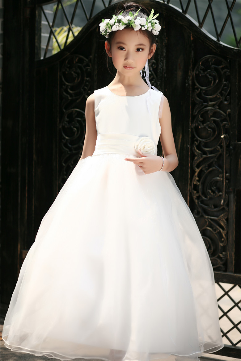 Baby blue wedding dresses promotion shop for promotional baby blue new 2015 summer toddler teenage girls wedding party princess dresses long tutu vestido baby kids clothes pink white purple blue ombrellifo Gallery