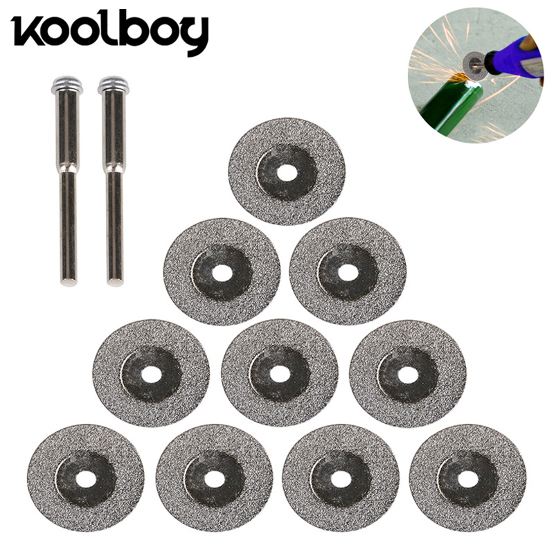 10Pc Small Diamond Saw Blades durable Coated Cutting Wheels Tool set Cutting Discs Mandrel For Dreme rotary air power tool kit цена