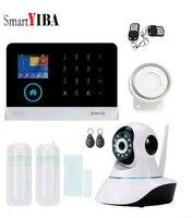 SmartYIBA 3g SIM WCDMA Alarmes приложение Управление двери магнитный Сенсор животное иммунной извещатель IP Камера для дома охранной сигнализации систем