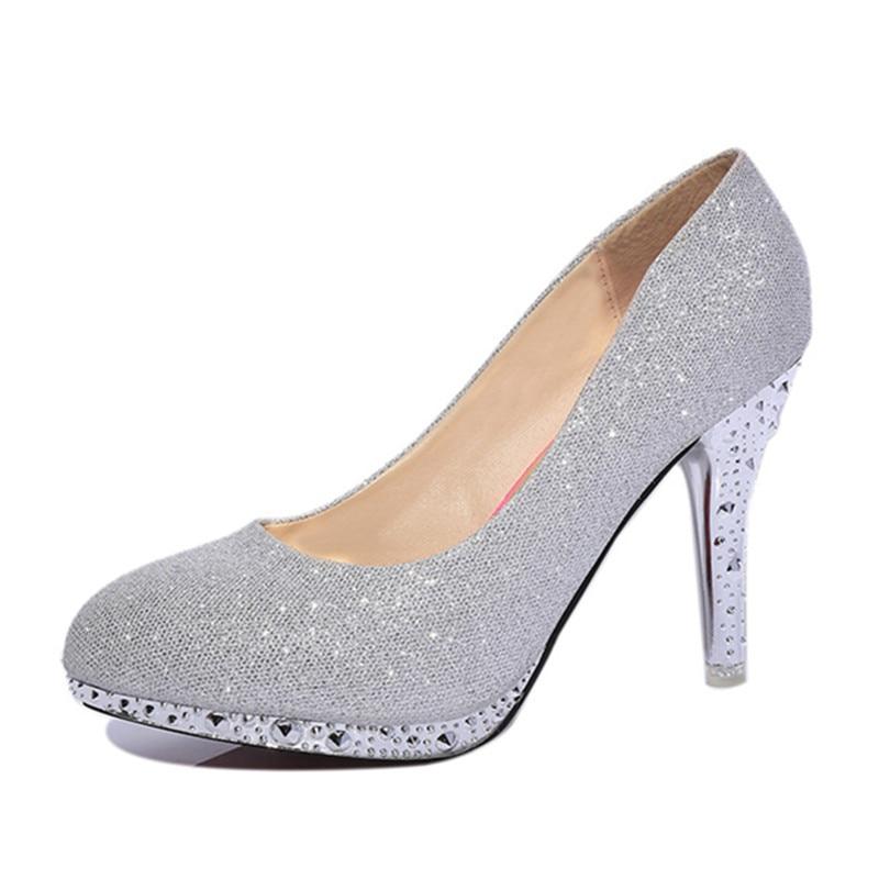 Nouveau Chaussures Haute Stiletto Printemps C25 Talon Pu Mode Sexy 2018 Femmes Bouche silver Mujer white Peu Automne Confortable Simples Profonde De red Pink 0xEWqx4
