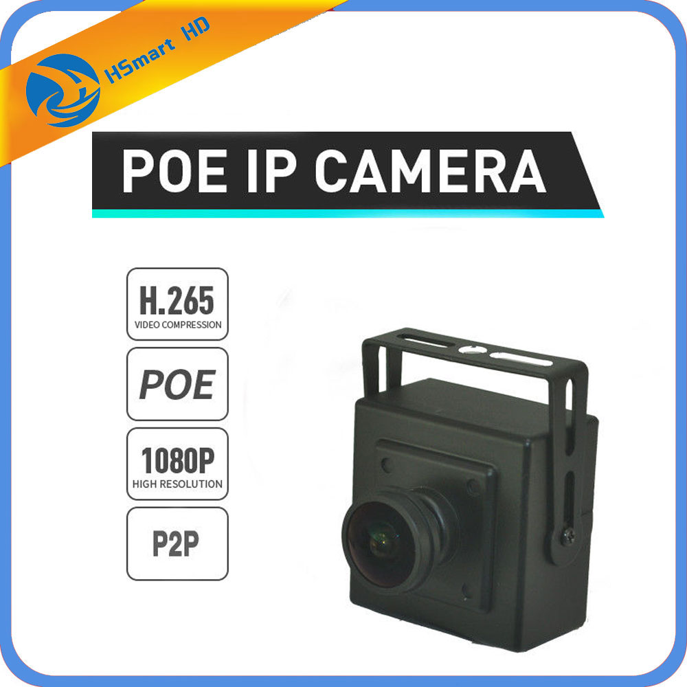 2MP H.265 1080P 1.8/2.8/3.6/6/8/12/16/25MM Lens CCTV H.264 IP MINI BOX Camera POE ONVIF Wide Angle Fish Eye Cameras