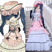 Black Butler Kuroshitsuji Ciel Phantomhive Maid Dress Uniform Outfit Anime Cosplay Costumes