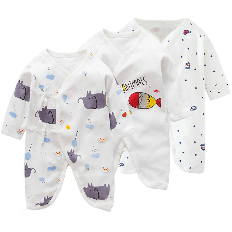 Newborn Baby Clothes 0-3month Pure Cotton Rompers Summer Baby Pajamas Autumn Fashion Kids Jumpsuit  Cute Cartoon Jumper