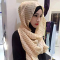 Muslim scarf wavelet point chiffon towel female summer scarf Hui nationality wind hood multicolor