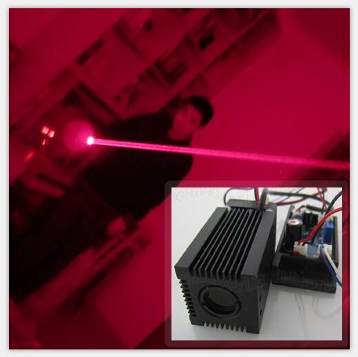 High Quality Fat Beam 12V 200mW Red 650nm Laser Module Head TTL/PWM Laser Club Mini Laser Stage Lighting Light Room Escape Laser