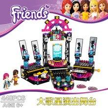 Bela 10406 Friends Gril Makeup Artist Pop Star Show Stage Minifigures Building Block Minifigure Toys Best Toys