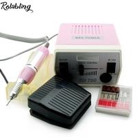 Rolabling Nieuwe Collectie Roze 30000 RPM Pro Elektrische Boor Machine Manicure Kits File Boren Hot Band Accessoire Nail Salon Tool