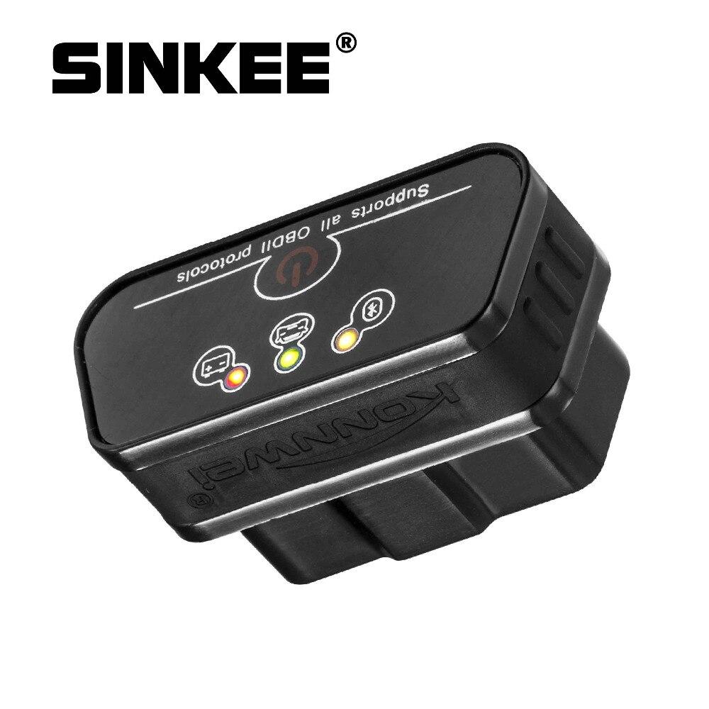 Сканер диагностический KW901, Bluetooth 3,0, ODB2 II, адаптер для Android, BT ELM327 SK1810