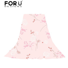 FORUDESIGNS Women Flowers Printing Scarves Ladies Sweet Pink Floral Scarf for Females Girls Fresh Style Beach Towel Party Shawl