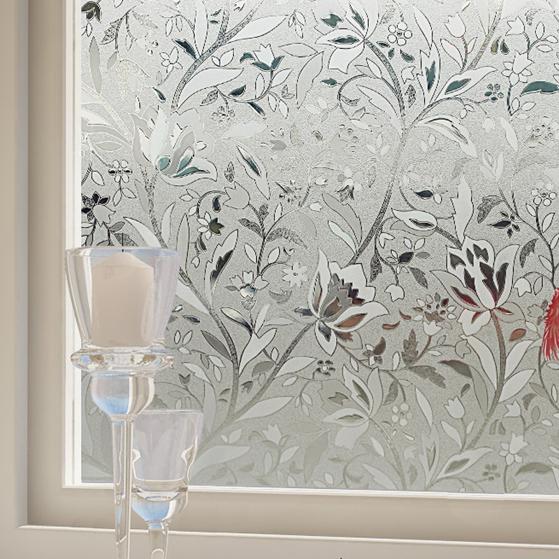 2016 Latest Glass Film Office Glass Partition Glass Film Frosted Stripes  Static Cling Window Film Stickers