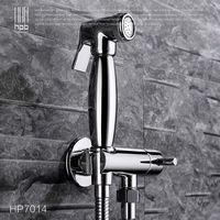 Brass Bathroom Toilet Portable Spray With Shower Holder Handheld Bidet Grifo Ducha Bidet Faucet HP7014