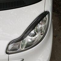 Smart Carbon Fiber Car Styling Headlight Eyebrows Cover Trim Sticker For Mercedes Benz 2009 2014