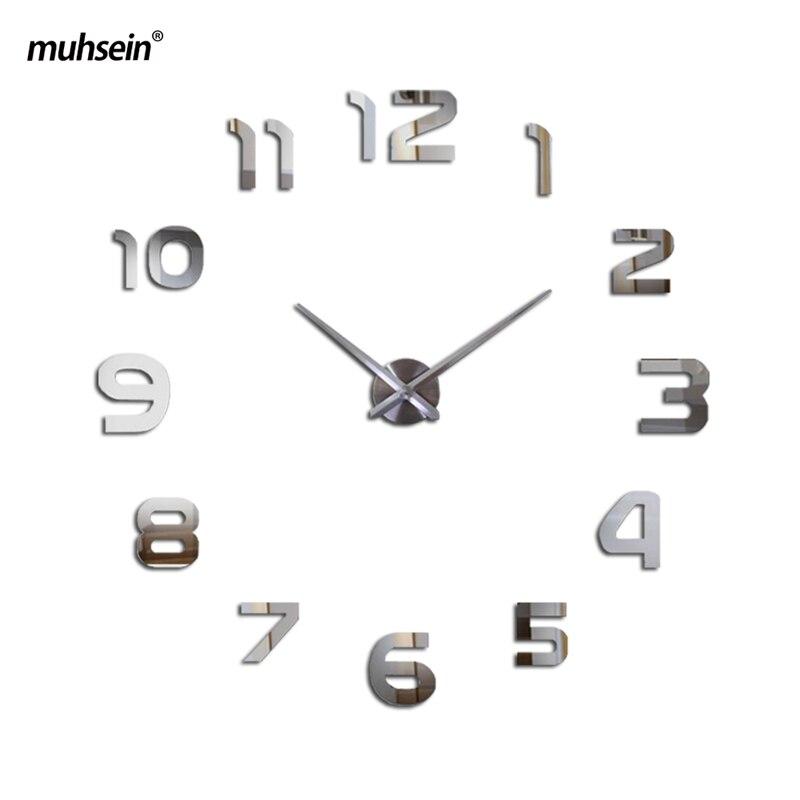 2019 muhsein Clock Watch Պատի Ժամացույցներ Horloge 3D - Տնային դեկոր - Լուսանկար 3