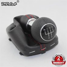 For Audi A3 S3 2000 2001 2002 2003 Car-styling New 5 Speed Car Stick Gear Shift Knob With Leather Boot Red Line for skoda fabia 1 mki 2000 2001 2002 2003 2004 2005 2006 2007 2008 car styling 5 speed car gear stick shift knob leather boot