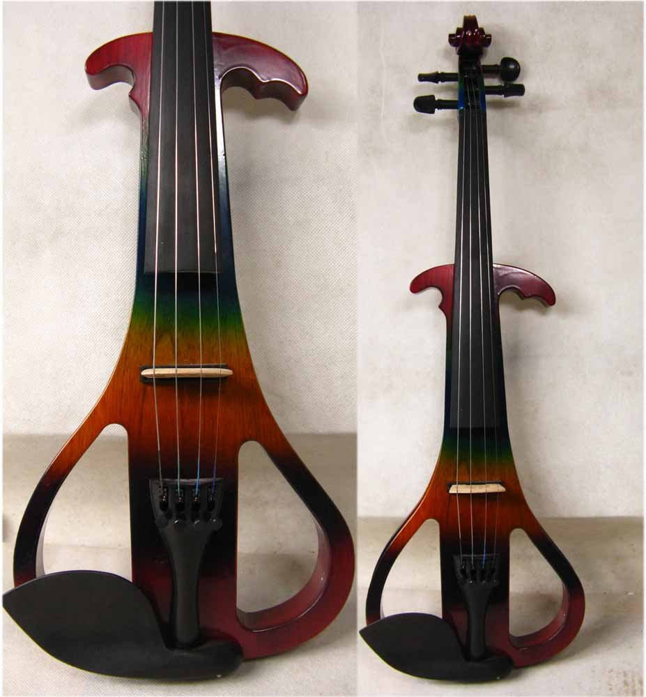 4/4 High quality  Electric violin  color 3# 4 4 high quality 5 string electric violin yellow 2 pickup violin