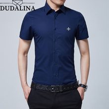 Dudalina Brand New Formal Shirt Men Short Sleeve Sh