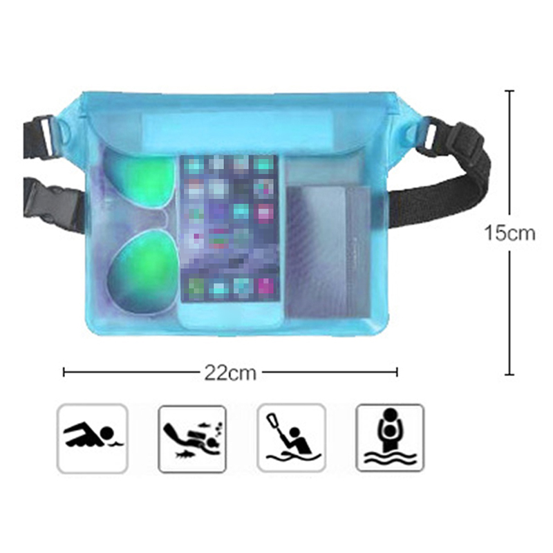 Free Shipping Sports Bag Waist Bag Swimming Drifting Diving Waist Fanny Pack Pouch Underwater Sealing Mobile Phone Pouch Pocket