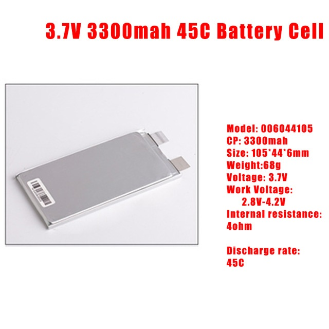 GTFDR 3.7V 3.7V 3300mah 45C max60C Repacement rechargeable lipo battery Helicopter Airplane drone 2S 3S 4S 6S Battery cell
