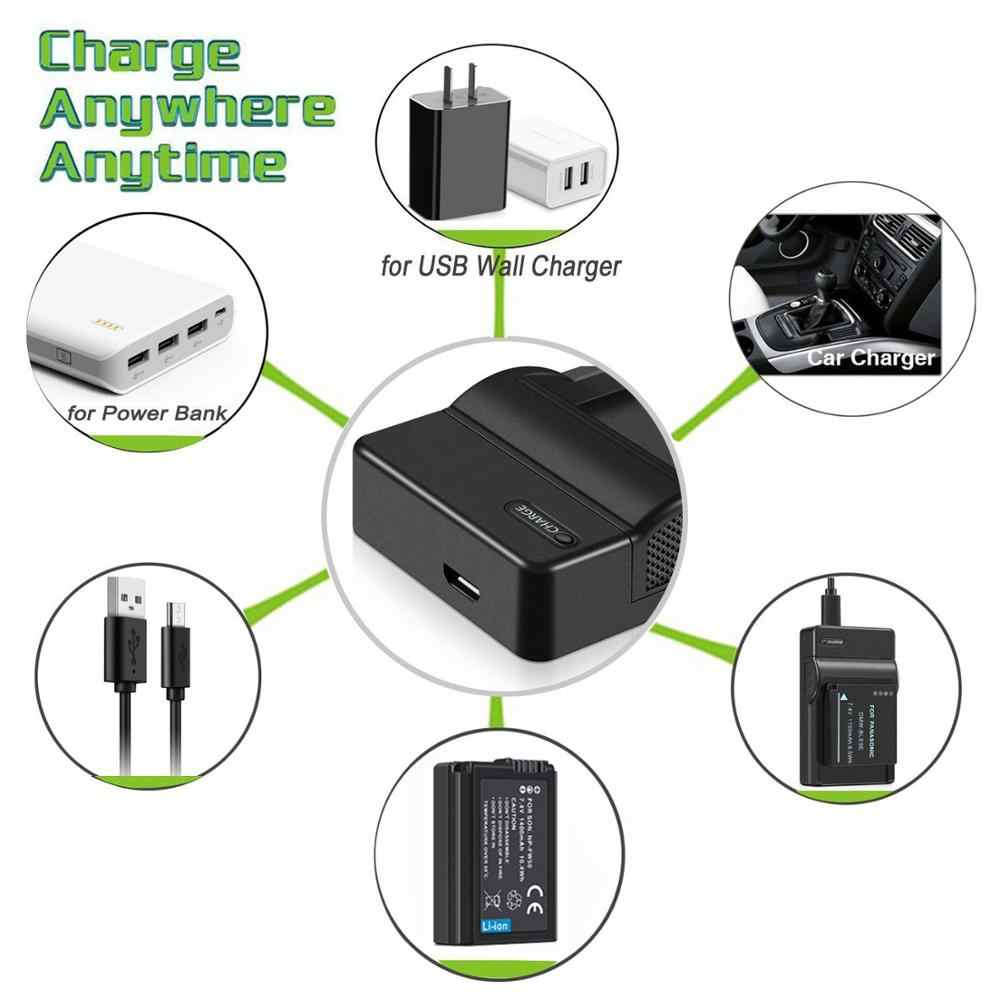 USB Charger สำหรับ Canon EOS กล้อง LP-E5 LP-E6 LP-E6N LP-E8 LP-E10 LP-E12 LP-E17 แบตเตอรี่ charger