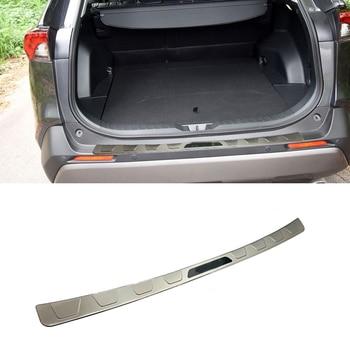 Высокое качество Нержавеющаясталь задний бампер облицовочная панель ножная педаль для Toyota 2019 2020 RAV4 автомобиля Средства для укладки волос >> Shop3085047 Store