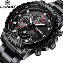 купить Relogio Masculino LIANDU Watch Men Fashion Sport Quartz Clock Mens Watches Top Brand Luxury Full Steel Business Waterproof Watch по цене 1317.6 рублей