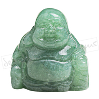 1 5 Inch Carved Natural Green Aventurine Maitreya Happy Laughing Buddha Figurine Home Decor Carving Sculpture