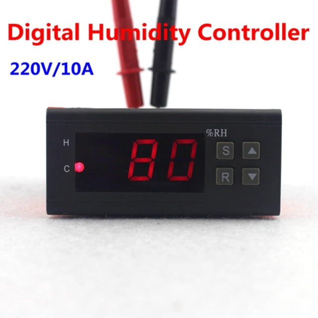 10% ~ 99% RH Humidity Controller 220V 10A digital Hygrometer with Humidity Sensor High Accuracy for Home/Industry