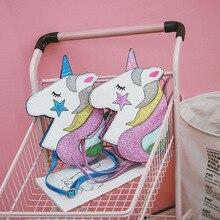 Lovely Cartoon Character Laser Unicorn Style Crossbody Bag Shiny Rainbow Star Reflector Shoulder Bag Bolsos Mujer