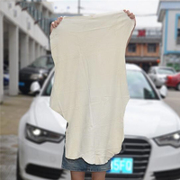 Haute qualité voiture séchage Chamois serviette de nettoyage en cuir véritable Shammy éponge tissu en peau de mouton serviette absorbante voiture lavage