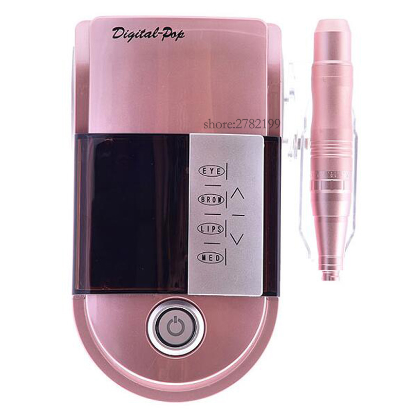 NEW Eyebrow Makeup Kits &Lips Rotary Motor Tattoo Machine Kit Permanent Makeup Machine pen Free Shipping free shipping 1 piece permanent makeup pen machine 600d c with special needle 600d g for eyebrow lips tattoo machine kit