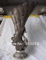 Bi00251 китайская тибетская Бронзовая статуя Будды серебряного Будды Феникса