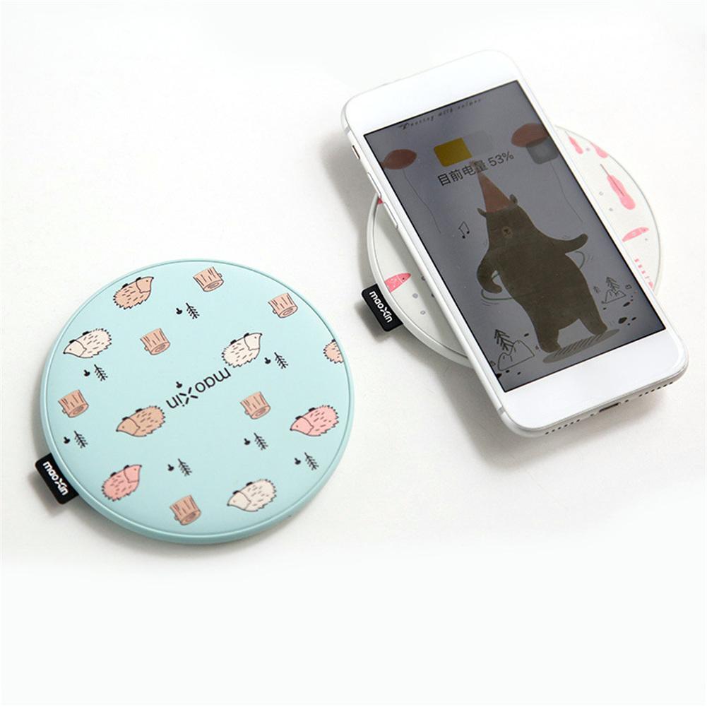 SHZONS Universel Mignon Mobile Téléphone Sans Fil Chargeur Pour Sumsung S8 S9 pour iPhone X 10 8 8 Plus