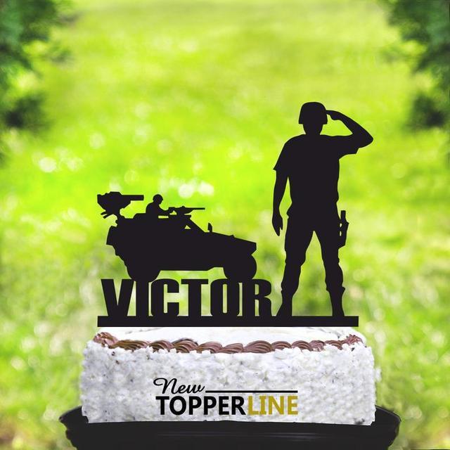 Fantastic Military Birthday Cake Topper Birthday Cake Topper Military Personalised Birthday Cards Paralily Jamesorg