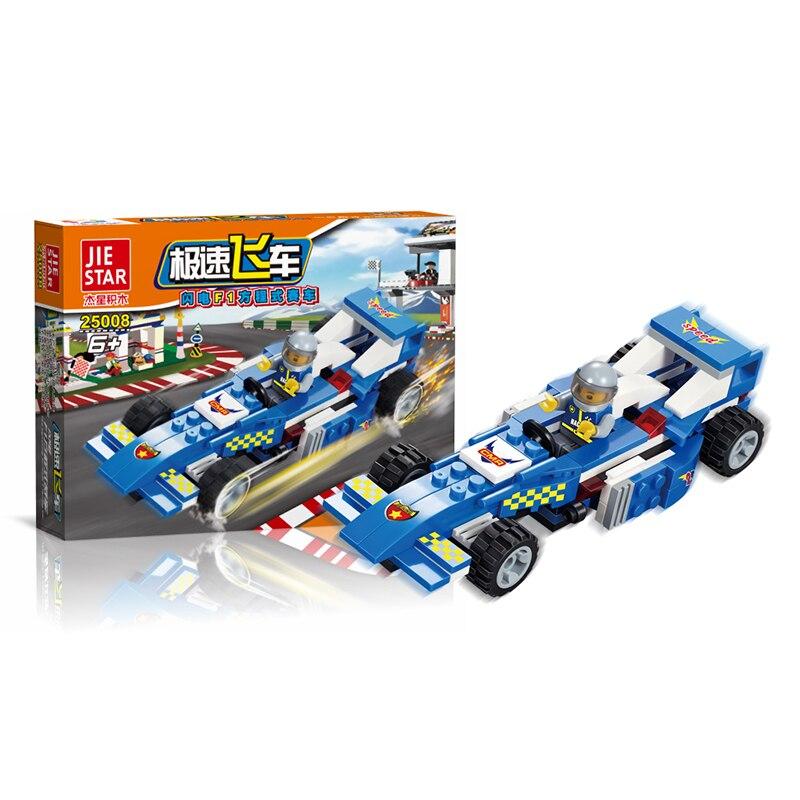 High Speed Racing bilblock 110pcs tegelstenar byggnadsblock F1 Formel racing set Modell tegelstenar Leksaker för barn