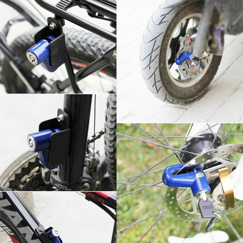 Купить с кэшбэком Bicycle Anti theft Disk Disc Brake Rotor Lock For Scooter Mountain Cycling Bike Accessories Motorcycle Security Safety Locks
