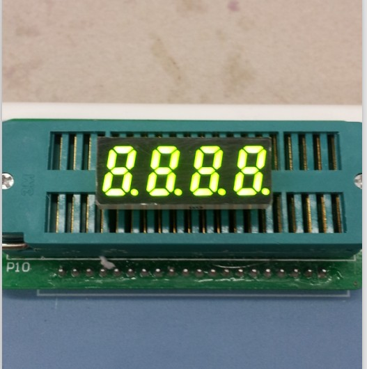 Common Anode/ Common Cathode 0.31 Inch Digital Tube 4 Bits Digital Tube Led Display 0.31inches Yellow-green Digital Tube
